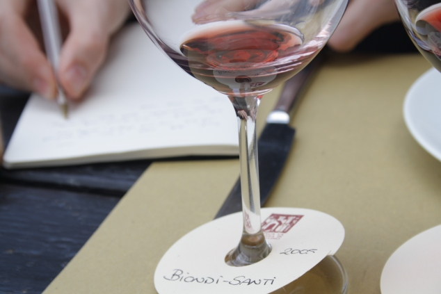 Note Taking in Enoteca La Fortezza Montalcino