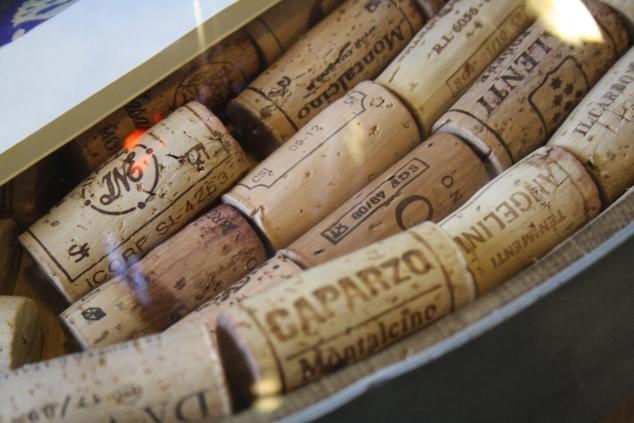 Corks in Enoteca La Piazza Montalcino