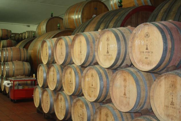 Barrels at Tenuta Col d'Orcia